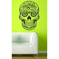 Amazon.com: Sugarskull Version 7 Wall Vinyl Decal Sticker Art Graphic Sticker Sugar Skull: Everything Else