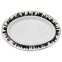"212 Oval Platter 13-1/2"", Dinnerware, 212 New York Skyline at www.fishseddy.com."