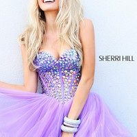 Sherri Hill 21101 Lilac Cocktail Dress