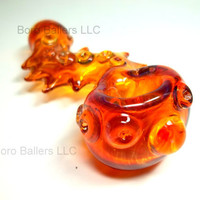 Glass Pipe Spiked Serpent Inside out Color Changing by LoudActions