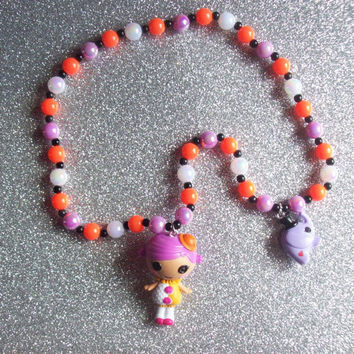 Lalaloopsy Circus Girl and Elephant Charm Stretch Necklace