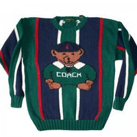 Coach Teddy Bear Tacky Ugly Sweater Men's Size Medium/Large (M/L)