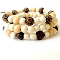 Wooden Tribal Bracelet Set II