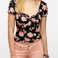 Pins And Needles Peek-A-Boo Cropped Top