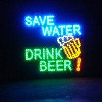 Amazon.com: 19x19 Large Save Water, Drink Beer Motion LED Sign: Home & Kitchen
