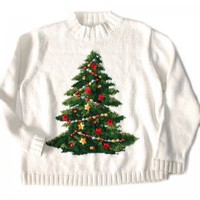 O Christmas Tree Tacky Ugly Holiday Sweater Women's Size XL