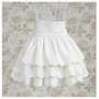 Ruffle Skirt in White