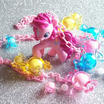 Super Fun Pinkie Pie Candy Charm Necklace from On Secret Wings