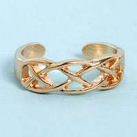 Weave the Best For Last Gold Knuckle Ring