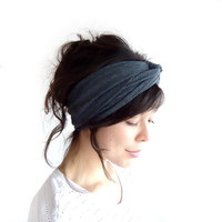 Winter Turban Headband Grey