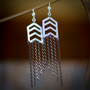 Chevron Falling Star Earrings