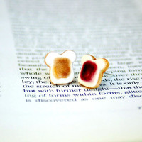 PB &amp; J earrings for a quick pick me up by Dprintsclayful on Etsy