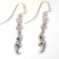 Seahorse Charm Earrings
