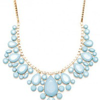 Georgina Necklace in Ash Blue - ShopSosie.com