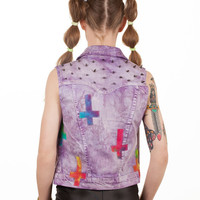 Tie Dye Upside Down Cross Vest