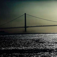 New York Photography Verrazano Bridge black dark green by Raceytay