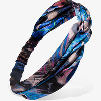 Peacock Print Headwrap | FOREVER 21 - 1026320451