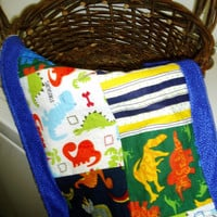Burp Cloth  Dinosaur Patchwork