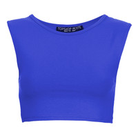 Petite Stretch Sleeveless Crop Top - Topshop USA