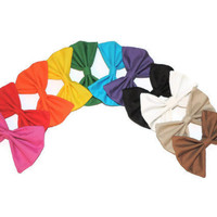 3 Pack of Big Solid Color Hair Bows - Choose Your Colors