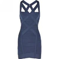 Amazon.com: Wiipu Women's sexy Bodycon Sheath Dress Cross over Bandage Dress(wiipu-504): Clothing