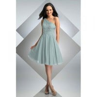 Charming One Shoulder Knee-length Satin Cocktail/ Evening Party Dress [TWL120201045] - &amp;#36;79.99 : wedding fashion, wedding dress, bridal dresses, wedding shoes