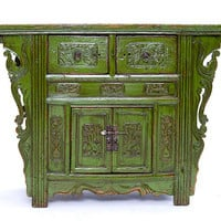 Comoda Mongola Verde - Muebles Coloniales y Muebles Rsticos - Cmodas y Sinfonieres Coloniales