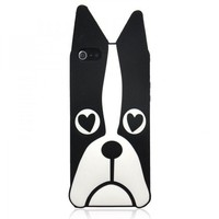 Heart Eyes Dog Soft Case For iPhone 5 from Hallomall