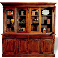 Librero Victoriano 4 Puertas - Muebles Clsicos - Libreros Clsicos