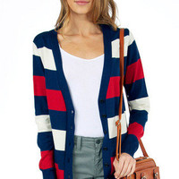 Multi Stripe Cardigan $39