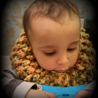 Toddler's Colourful Cowl - little boy cowl - natural fibers