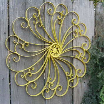 large wrought iron wall decor metal from theshabbyshak on. Black Bedroom Furniture Sets. Home Design Ideas