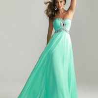FancyGirl  Stunning A-line Sweetheart Floor Length Prom Dress with Rhinestones