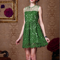 Sweat elegant green organza princess gown dress from Girlfirend