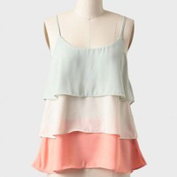 soft haze tiered top at ShopRuche.com