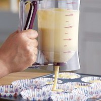Amazon.com: Cake Batter Dispenser With Measuring Label By Collections Etc: Kitchen &amp; Dining