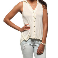 rue21 :   LACE BK HI LO SWING SHIRT