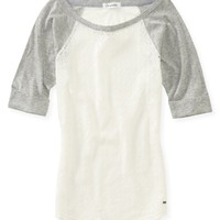 Lace Baseball Tee - Aeropostale