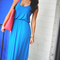 The Angelina Maxi : Caribbean Blue | Hope&#x27;s