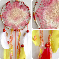 Poppy Fields Native Woven Dreamcatcher