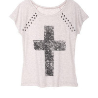 Studded Cross Tee