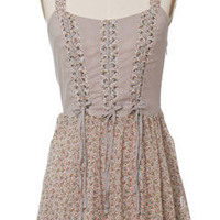 Trendy and Cute dresses - Ya Los Angeles - Flora Lace Up Dress - chloelovescharlie.com | $44.00