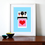 Polaroid print poster Instant Love A3 297 x 42 cm by yumalum