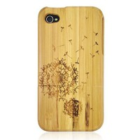 Amazon.com: Matek: Luxurious Dandelion Bamboo Wooden Wood Hard Case Cover for iPhone 4 4S 4G ,268: Cell Phones & Accessories