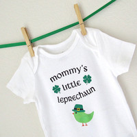St Patrick's Day Onesie Mommy's Little Leprechaun