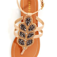 Bamboo Raku 07 Natural Beaded Thong Sandals
