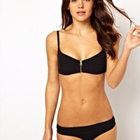 Insight Pucker Zip Bikini Set at asos.com