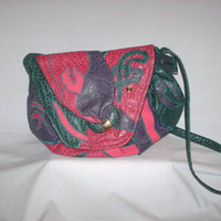 Vintage 1980s Nas Bag Pink and Green