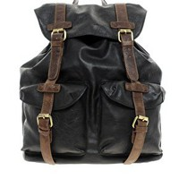 ASOS Military Backpack In PU at asos.com