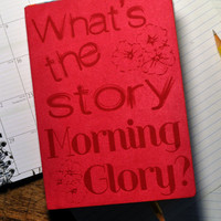 What&#x27;s the Story Morning Glory - Girl-inspired,  Personal Journal,  Blank  note book, Book, Journal